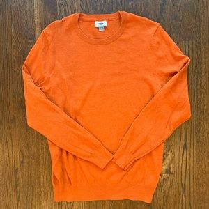 Men's Burnt Orange Crewneck Sweater Sz. M